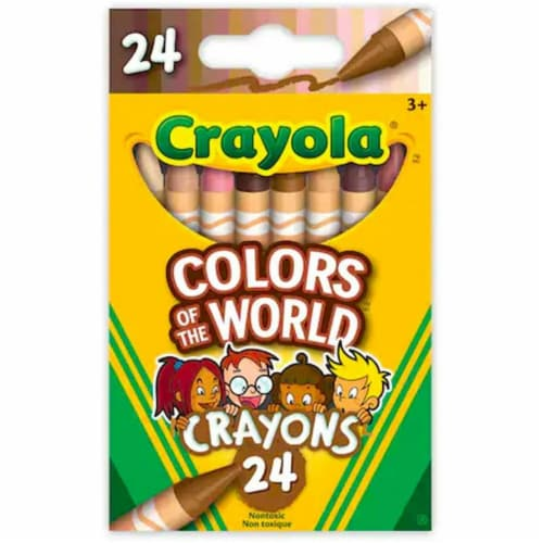 Crayola Colors of The World Skin Tone Crayons, 24 Count Perspective: front