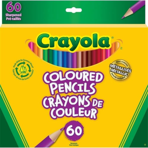 Crayola 60 Colored Pencils Perspective: front