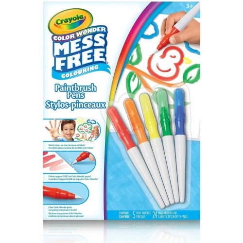 Crayola Color Wonder Mess Free Paintbrush Pens Perspective: front