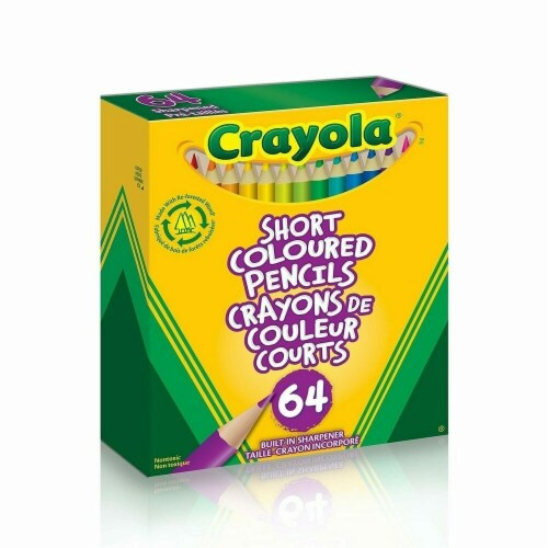 Crayola 30364650 64 Short Colored Pencils Perspective: front