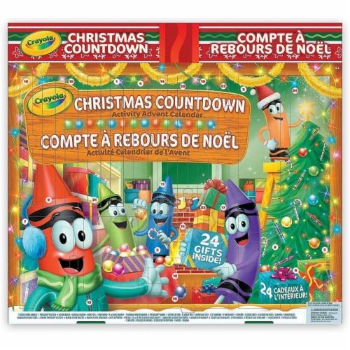 Crayola Christmas Countdown Activity Advent Calendar Perspective: front