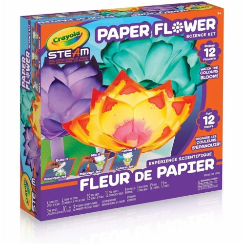 Crayola Paper Flower Science Kit Perspective: front