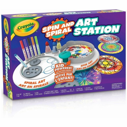 Crayola 30372735 Spin & Spiral Art Station Perspective: front