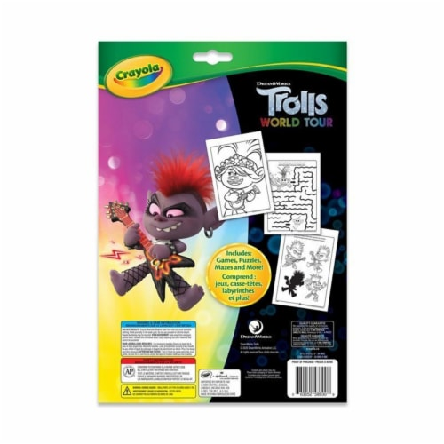 Crayola Coloring & Activity Book - Trolls World Tour Perspective: front