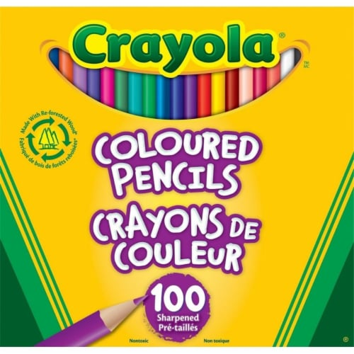 Crayola 100 Colored Pencils Perspective: front