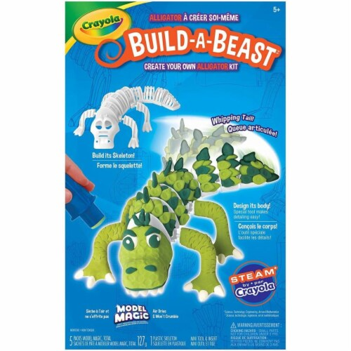 Crayola 30372855 Build a Beast Craft Kit - Alligator Perspective: front
