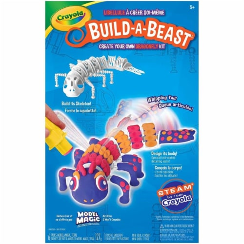 Crayola 30372845 Build a Beast Craft Kit - Dragonfly Perspective: front