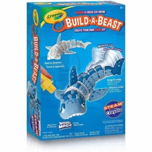 Crayola 30372860 Build a Beast Craft Kit - Shark Perspective: front