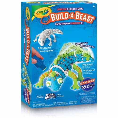 Crayola Build-A-Beast Craft Kit - Chameleon Perspective: front