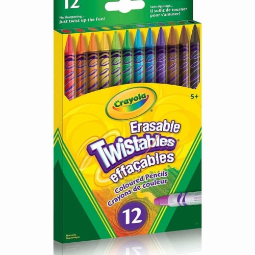 Crayola 30365440 12 Erasable Twistables Coloured Pencils Perspective: front
