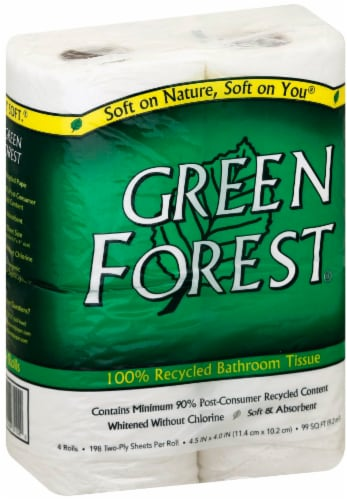 Green Forest Bath Tissue Perspective: front