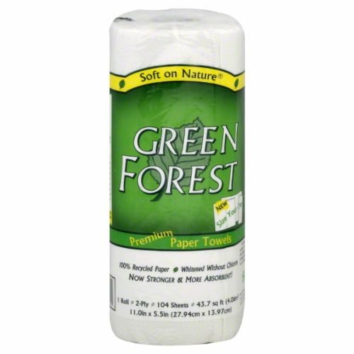 Green Forest 100% Recycled Size-Your-Own Paper Towel Roll Perspective: front
