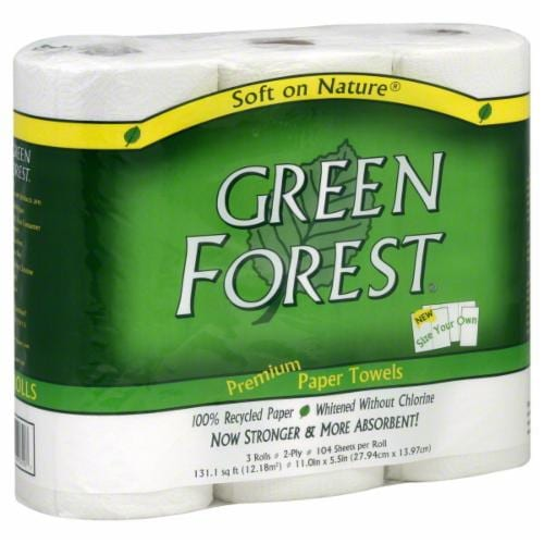 Green Forest 100% Recycled Size-Your-Own Paper Towels Perspective: front