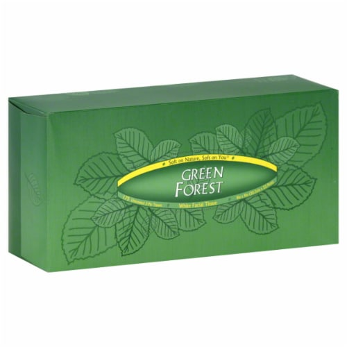 Green Forest Facial Tissue Perspective: front