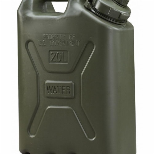 Scepter Water Container,5 gal.,Green  06664 Perspective: front