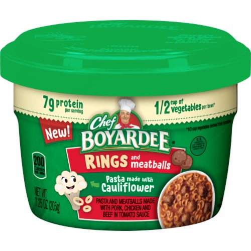 Chef Boyardee Mini Spagetti Rings & Meatballs Microwavable Bowls Perspective: front