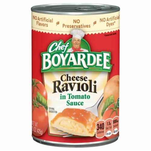 Chef Boyardee Cheese Ravioli in Tomato Sauce Perspective: front