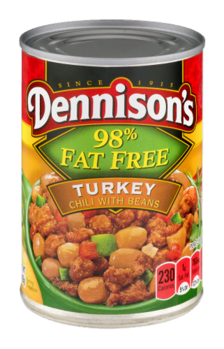 Dennison's 98% Fat Free Turkey Chili with Beans Perspective: front