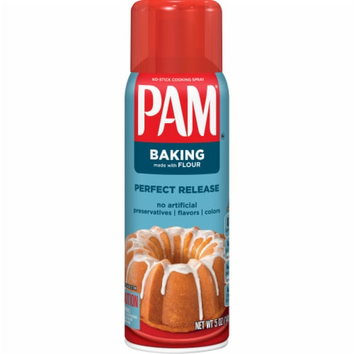 Pam with Flour Baking Spray Perspective: front