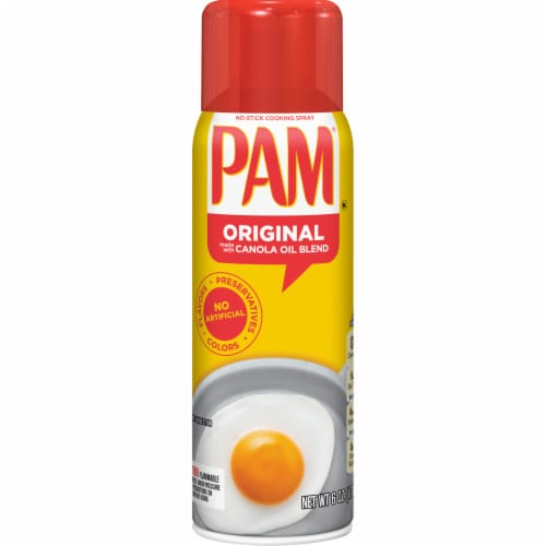 Pam Original Cooking Spray Perspective: front
