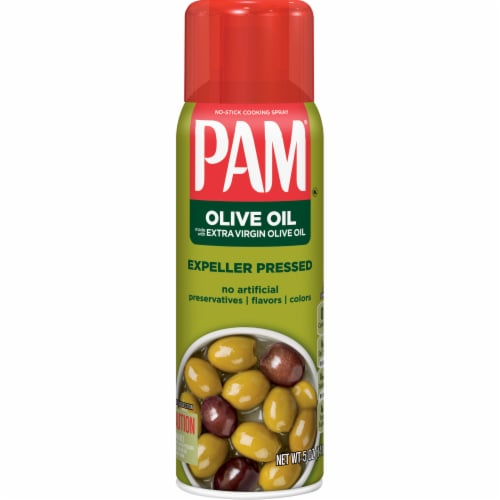 Pam Extra Virgin Olive Oil Cooking Spray Perspective: front