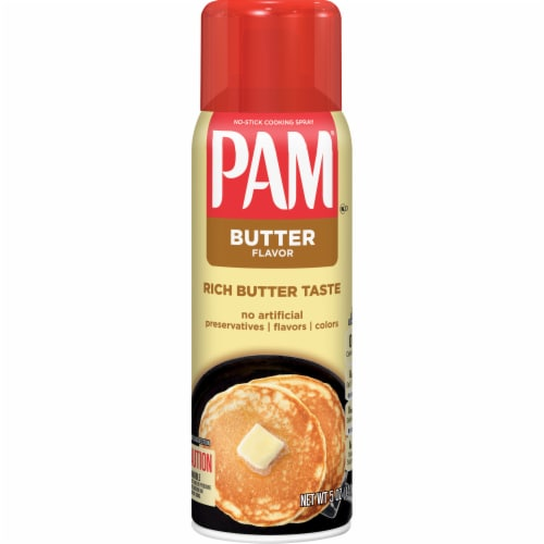 Pam Butter Flavored Cooking Spray Perspective: front