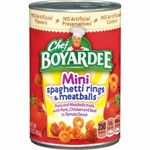 Chef Boyardee Mini Spaghetti Rings & Meatballs Perspective: front