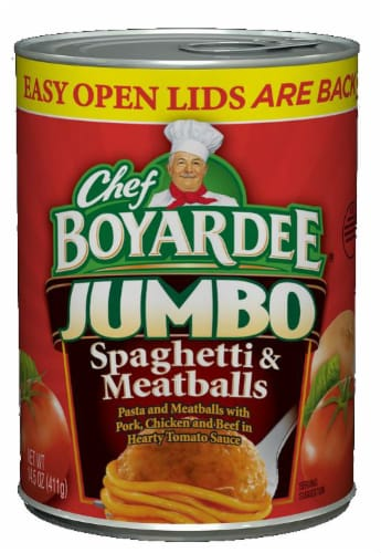 Chef Boyardee Spaghetti & Jumbo Meatballs Perspective: front