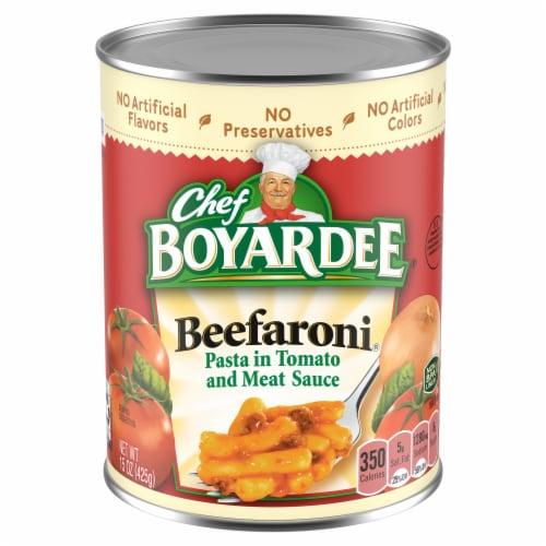 Chef Boyardee Beefaroni Pasta Perspective: front