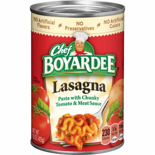 Chef Boyardee Lasagna Perspective: front