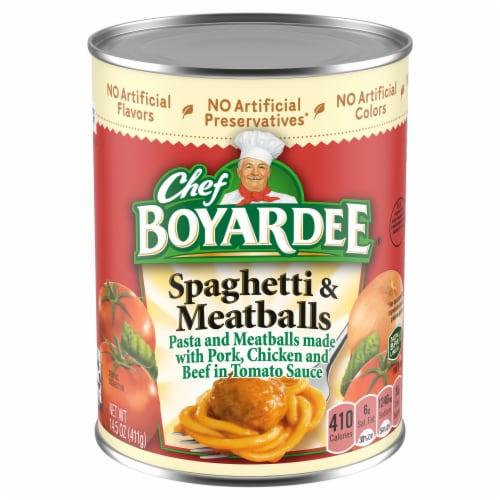Chef Boyardee Spaghetti & Meatballs Perspective: front