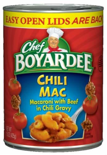 Chef Boyardee Chili Mac Perspective: front