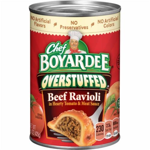 Chef Boyardee Overstuffed Beef Ravioli Perspective: front