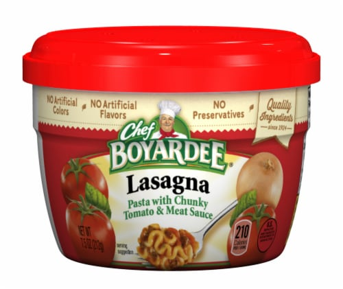 Chef Boyardee Lasagna Pasta with Chunky Tomato & Meat Sauce Perspective: front