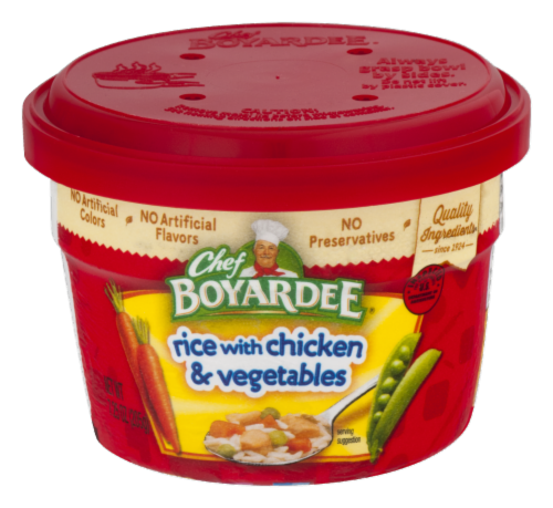 Chef Boyardee Rice with Chicken & Vegetable Microwavable Bowl Perspective: front