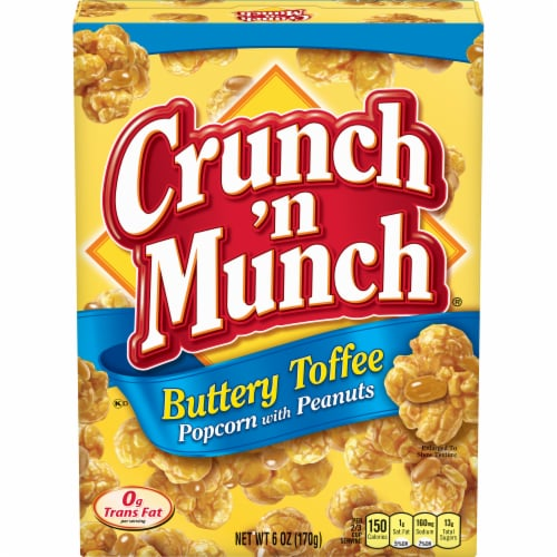 Crunch 'n Munch Buttery Toffee Popcorn Perspective: front