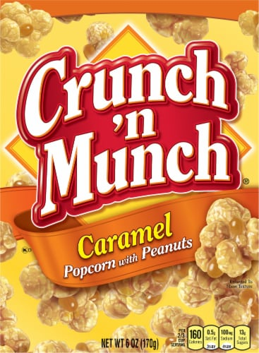 Crunch 'n Munch Caramel Popcorn with Peanuts Perspective: front
