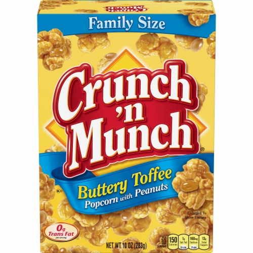 Crunch 'n Munch Buttery Toffee Popcorn with Peanuts Perspective: front