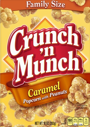 Crunch 'n Munch Caramel Popcorn with Peanuts Family Size Perspective: front
