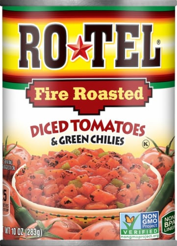 Rotel Fire Roasted Diced Tomatoes & Green Chilies Perspective: front