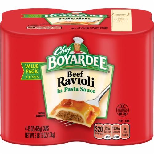 Chef Boyardee Beef Ravioli Perspective: front