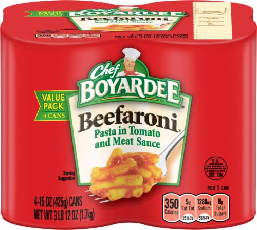 Chef Boyardee Beefaroni Value Pack 4 Count Perspective: front