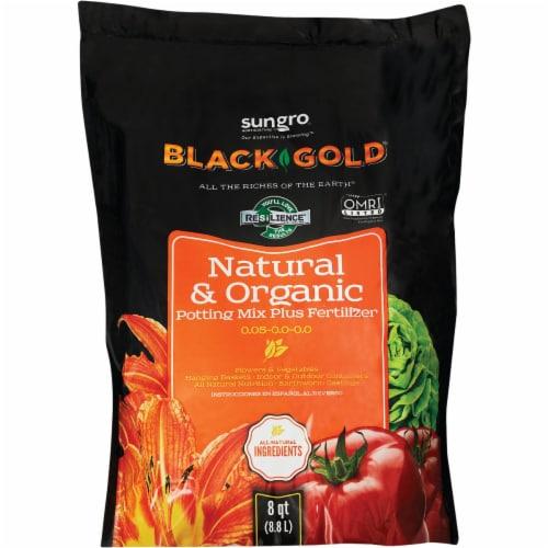 Black Gold 8 Qt. 8 Lb. All Purpose Natural & Organic Potting Soil 1402040.Q08P Perspective: front
