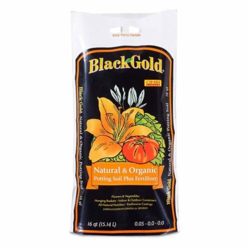 Black Gold® Natural and Organic Potting Soil Plus Fertilizer Perspective: front