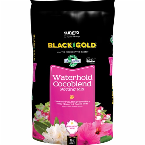 Black Gold® Organic Waterhold Cocoblend Potting Soil Perspective: front