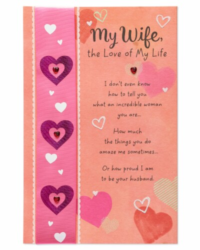 American Greetings Valentine's Day Card for Wife (Luckiest Guy) Perspective: front