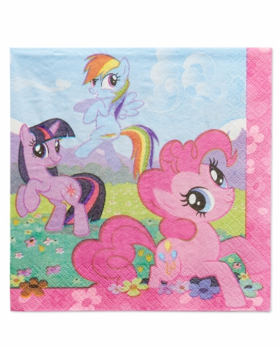 American Greetings My Little Pony Paper Lunch Napkins Perspective: front