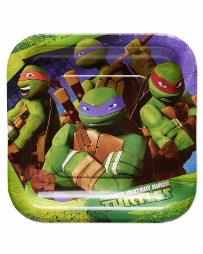 American Greetings Teenage Mutant Ninja Turtle Paper Dessert Plates Perspective: front