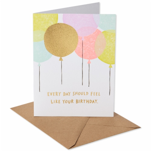 American Greetings Birthday Card (Balloons) Perspective: front
