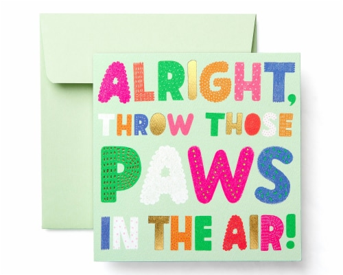 American Greetings Birthday Card for Kids (Paws) Perspective: front